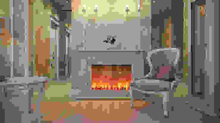 Четырехкомнатная квартира в классическом стиле Гостиная в классическом стиле от Details, design studio Классический