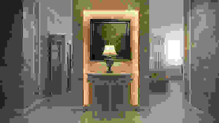Четырехкомнатная квартира в классическом стиле Коридор, прихожая и лестница в классическом стиле от Details, design studio Классический