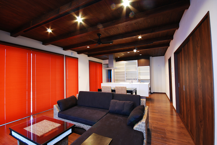 Living room by 一級建築士事務所  馬場建築設計事務所