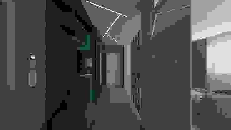 дизайн квартиры в стиле хай-тек Коридор, прихожая и лестница в стиле минимализм от архитектор-дизайнер Алтоцкий Михаил (Altotskiy Mikhail) Минимализм