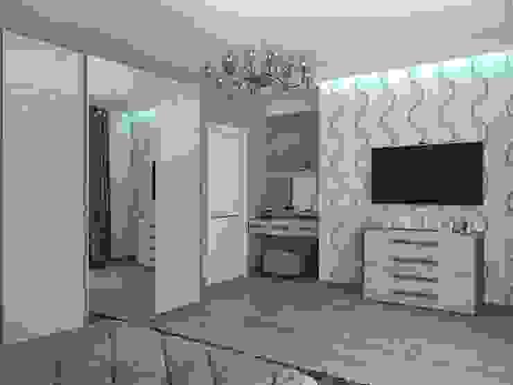 дизайн квартиры в стиле хай-тек Спальня в стиле минимализм от архитектор-дизайнер Алтоцкий Михаил (Altotskiy Mikhail) Минимализм