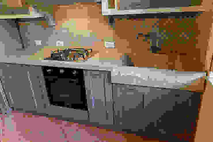 ラスティックデザインの キッチン の CusenzaMarmi ラスティック 大理石
