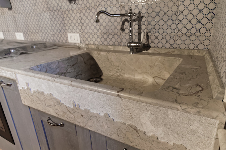 CusenzaMarmi KitchenSinks & taps Marble Grey