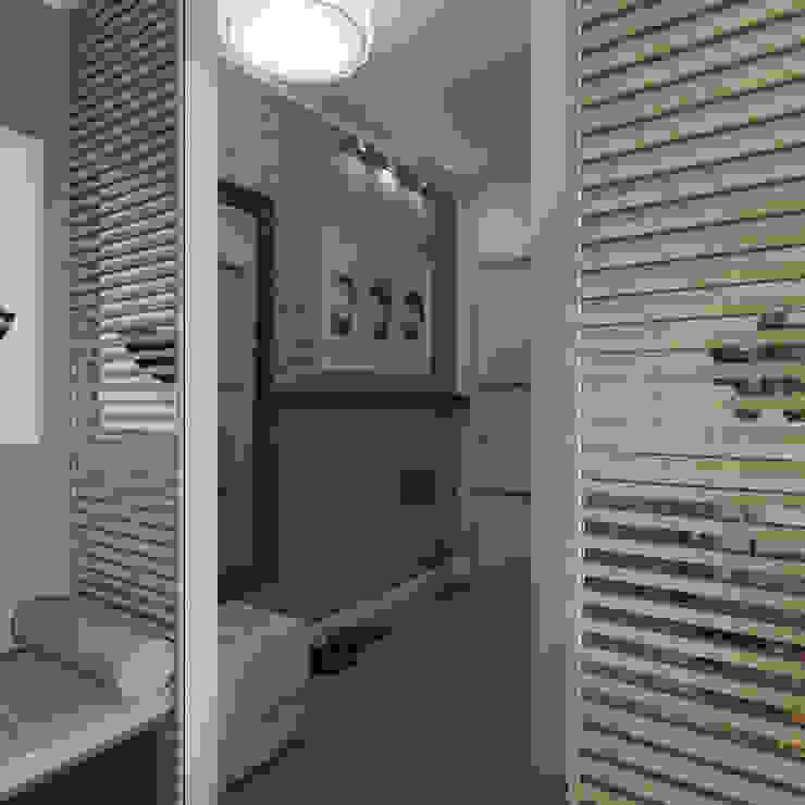 Минимализм Pasillos, halls y escaleras minimalistas de Interiorbox Minimalista