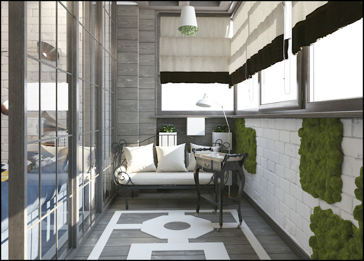 Лофт Balkon, Beranda & Teras Gaya Industrial Oleh Interiorbox Industrial