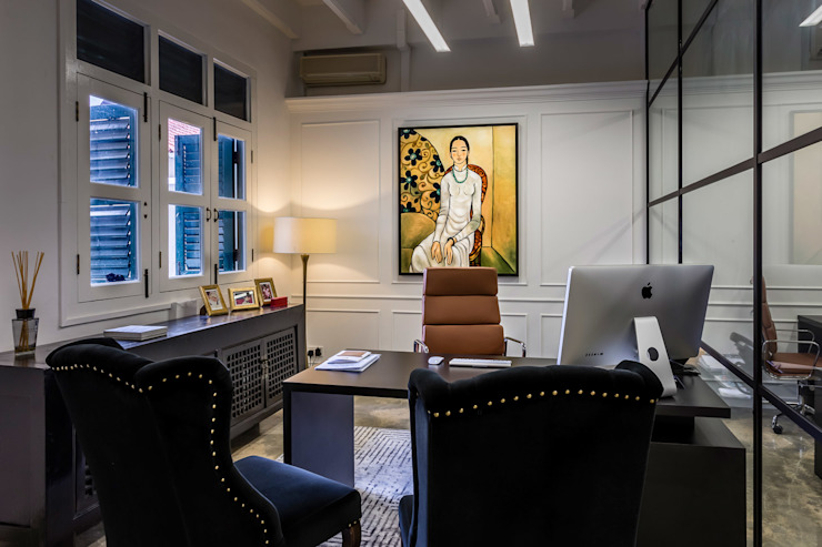 MD Office Eclectic style study/office by elliot James Pte Ltd Eclectic