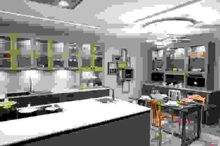Classic style kitchen by Línea 3 Cocinas Madrid Classic Quartz
