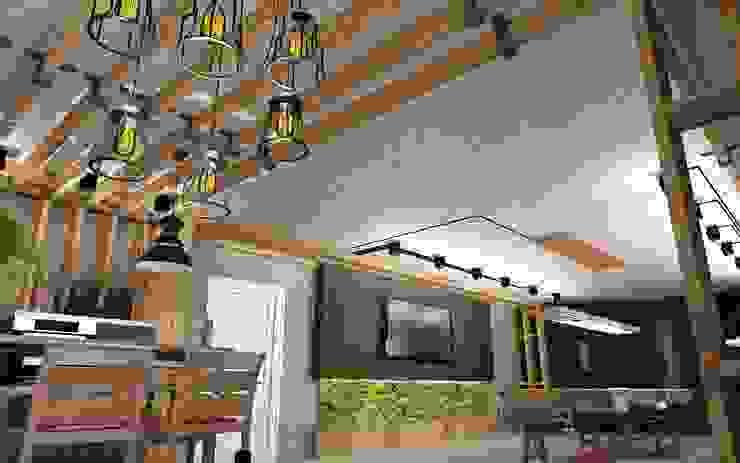 Бильярд Тренажерный зал в стиле лофт от Студия дизайна Натали Хованской Лофт Твердая древесина Многоцветный