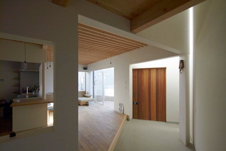House in Aoba Modern living room by シキナミカズヤ建築研究所 Modern