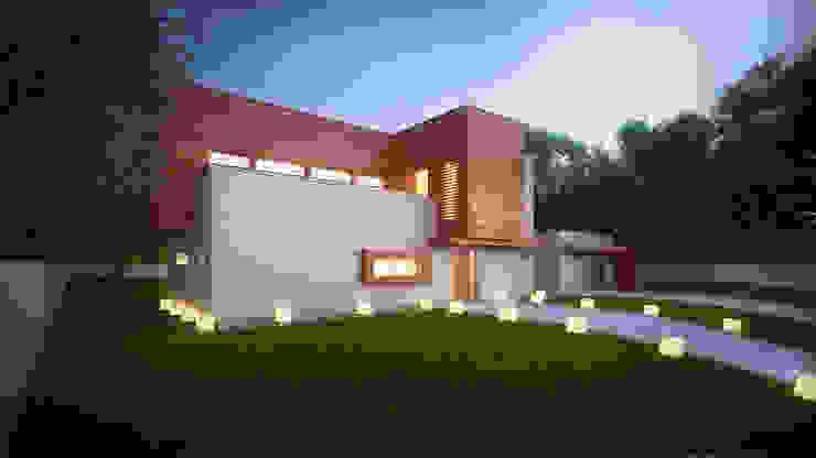 Projekty domów - House x02 Nowoczesne domy od Majchrzak Pracownia Projektowa Nowoczesny