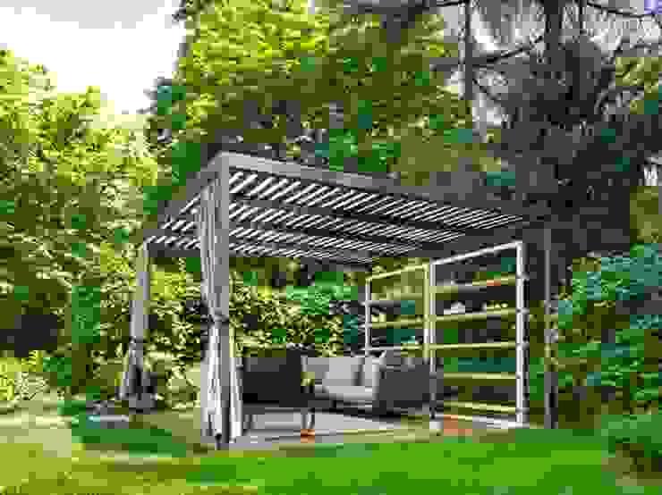 Balcon, Veranda & Terrasse minimalistes par Cagis Minimaliste Fer / Acier