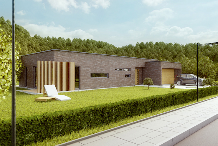Casas modernas: Ideas, diseños y decoración de Majchrzak Pracownia Projektowa Moderno