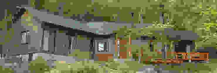 (有)岳建築設計 Asian style houses Wood Wood effect