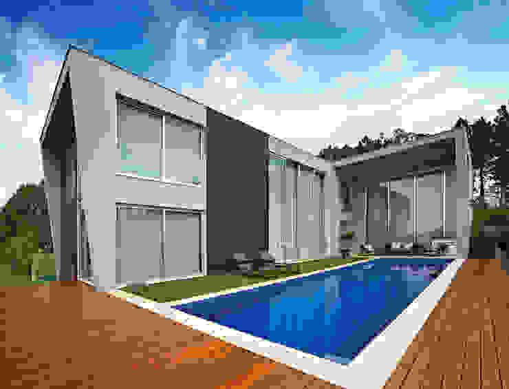 Albercas de estilo  por Márcia Carvalhaes Arquitetura LTDA., Moderno