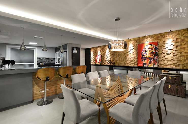 Comedores de estilo  por Tamara Rodriguez Aquitetura,