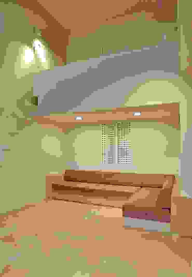 熱海・伊豆山の家 モダンデザインの リビング の 川口孝男建築設計事務所 モダン タイル