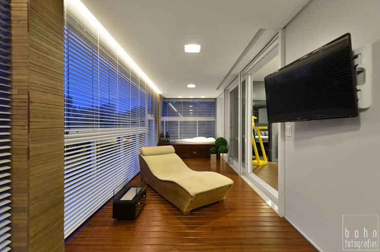 Apartamento EL Varandas, alpendres e terraços modernos por Tamara Rodriguez Aquitetura Moderno