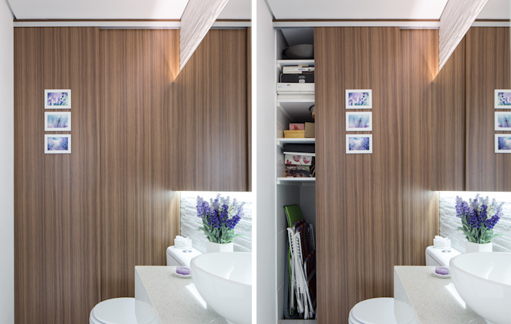 homify Minimalist bathroom MDF Wood effect