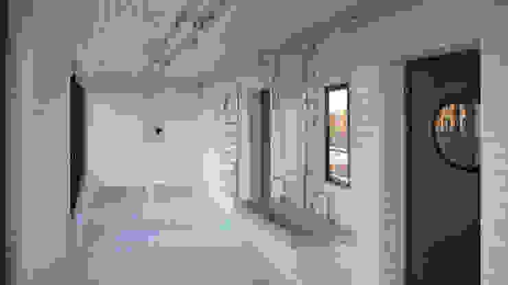 Baños de estilo industrial de boehning_zalenga koopX architekten in Berlin Industrial