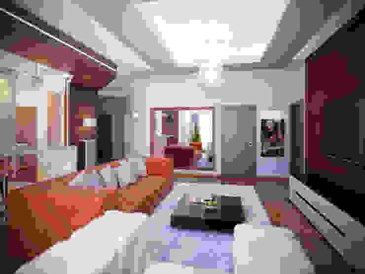 Квартира в Москве Медиа комната в стиле модерн от Ахитектурная студия B&partners Модерн