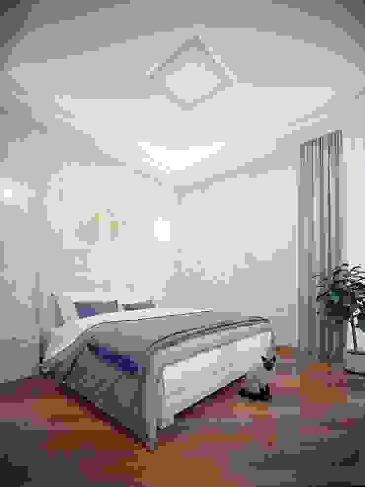 Квартира на Дубровке Спальня в классическом стиле от Ахитектурная студия B&partners Классический
