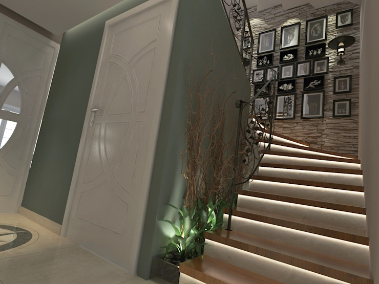 INdesign Modern corridor, hallway & stairs