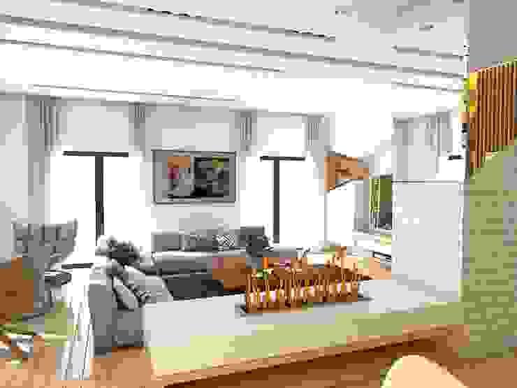 Murat Aksel Architecture – Housing: modern tarz , Modern Mermer