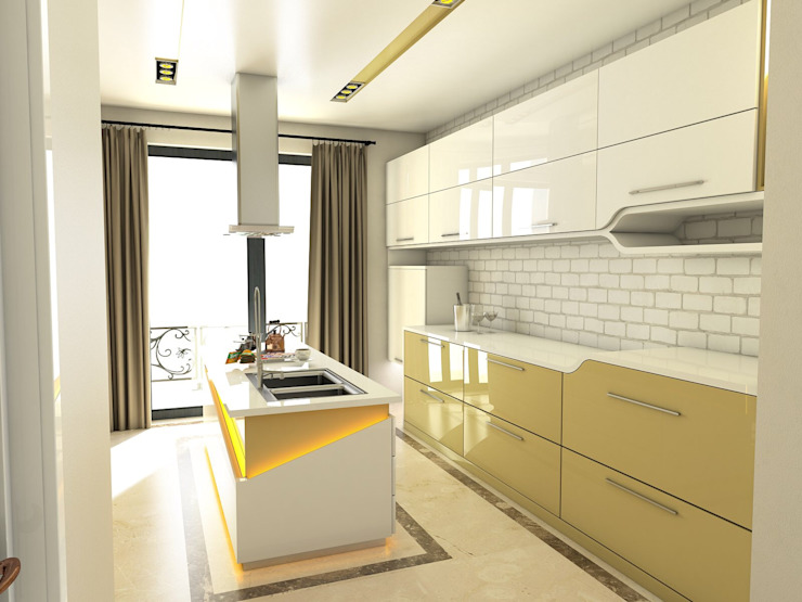 Modern kitchen by Murat Aksel Architecture Modern Marble