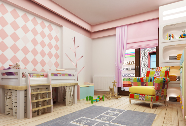 Modern nursery/kids room by Murat Aksel Architecture Modern Engineered Wood Transparent
