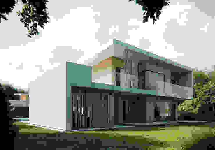 Projekty domów - House 08: styl , w kategorii Domy zaprojektowany przez Majchrzak Pracownia Projektowa,