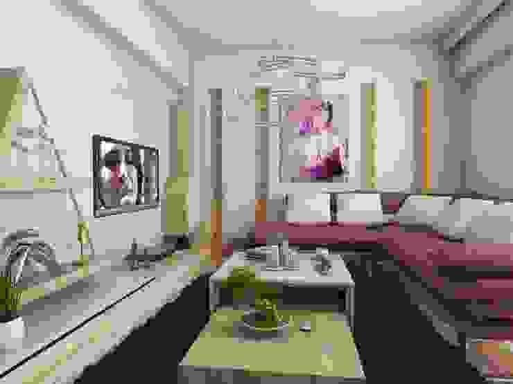 Soggiorno moderno di Murat Aksel Architecture Moderno Legno Effetto legno