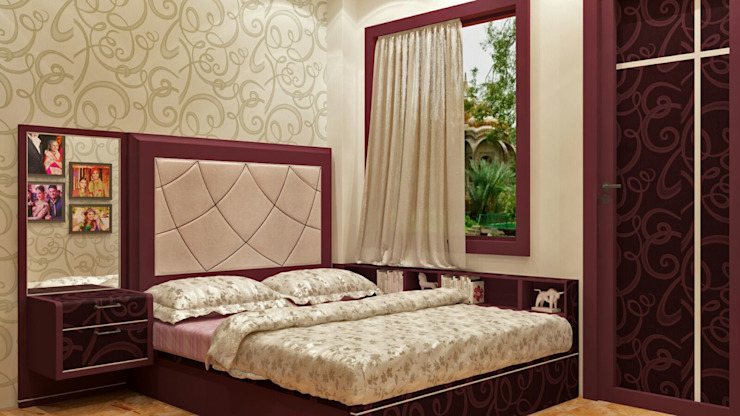 Room 3 bed view Creazione Interiors Modern style bedroom