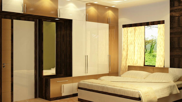 Room 5 wardrobe view Creazione Interiors Modern style bedroom