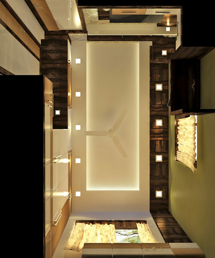 Room 5 ceiling view Modern style bedroom by Creazione Interiors Modern