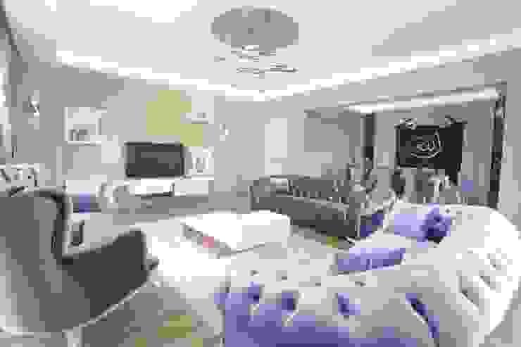 de Murat Aksel Architecture Moderno Textil Ámbar/Dorado