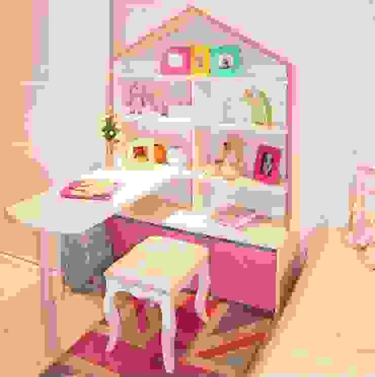 Ambiente Infantil com estante casinha de bonecas por INTERCASA MÓVEIS INFANTIS E JUVENIS Moderno Madeira Efeito de madeira