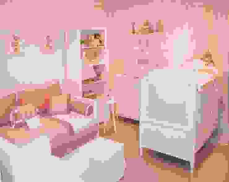 Quarto de bebê completo decorado - linha Classic por INTERCASA MÓVEIS INFANTIS E JUVENIS Clássico Madeira Efeito de madeira