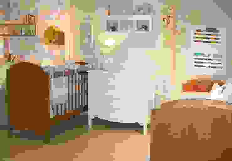 Quarto de bebê completo decorado - linha Madeira Maçica:  colonial por INTERCASA MÓVEIS INFANTIS E JUVENIS,Colonial Madeira maciça Multi colorido