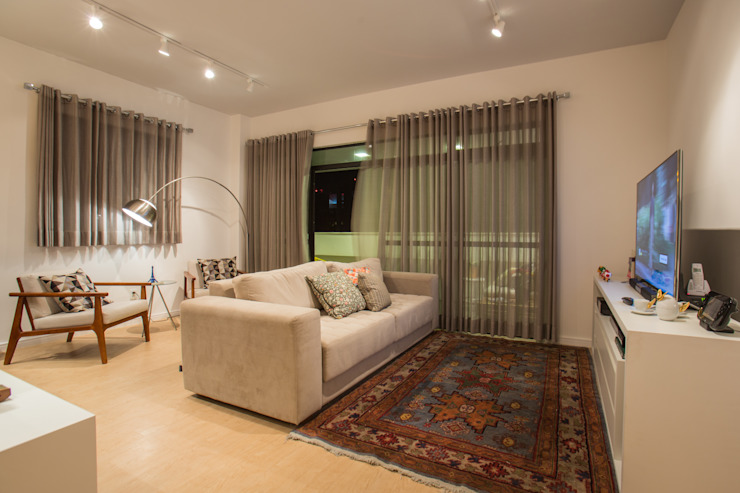 FLAT B&C Salas de estar modernas por Casa2640 Moderno