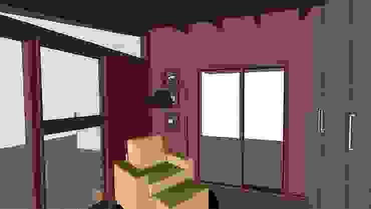 Escritório - ampliação de residência Escritórios modernos por Barros Campesi Arquitetura Moderno