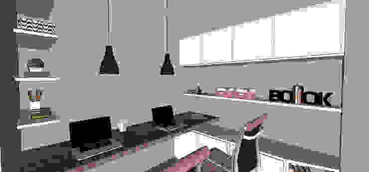 Escritório das irmãs Escritórios modernos por Barros Campesi Arquitetura Moderno