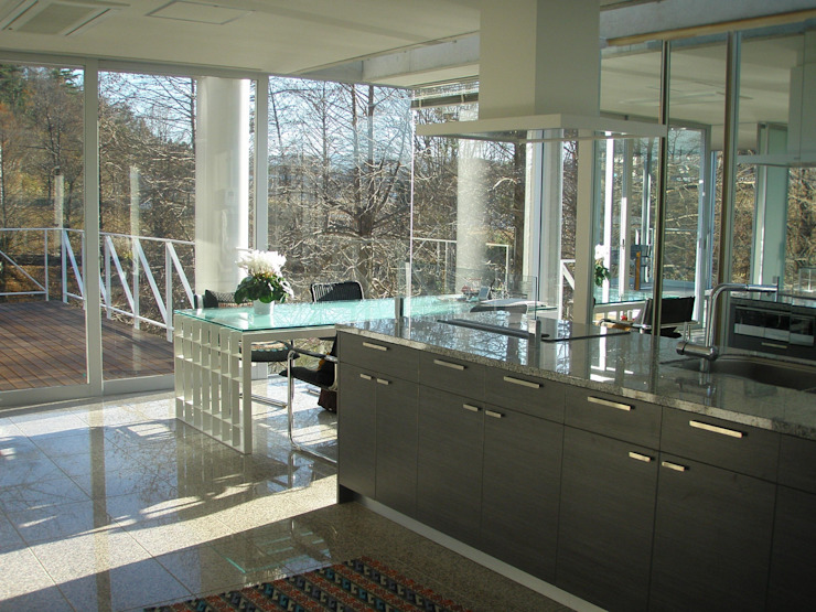 建築家の自邸 Architect's own house オリジナルデザインの キッチン の 高原生樹建築設計事務所 オリジナル
