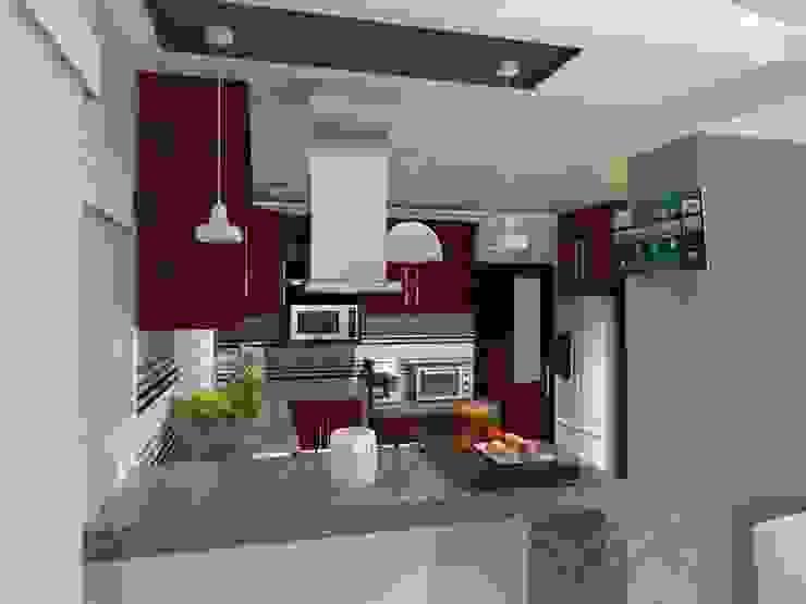 COCINA AurEa 34 -Arquitectura tu Espacio- Cocinas modernas Multicolor