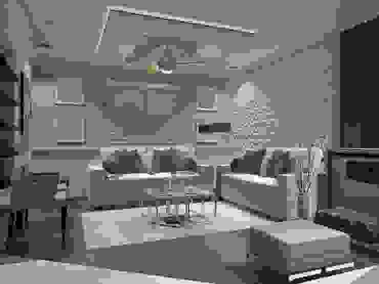 SALA AurEa 34 -Arquitectura tu Espacio- Salones modernos Beige