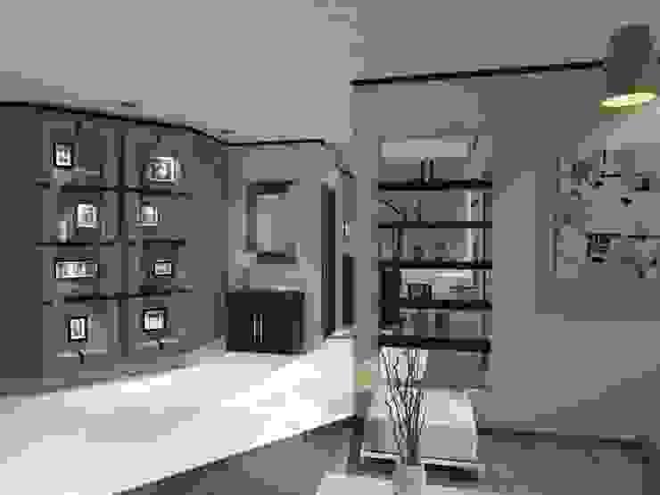 RECIBIDOR AurEa 34 -Arquitectura tu Espacio- Pasillos, vestíbulos y escaleras modernos Beige