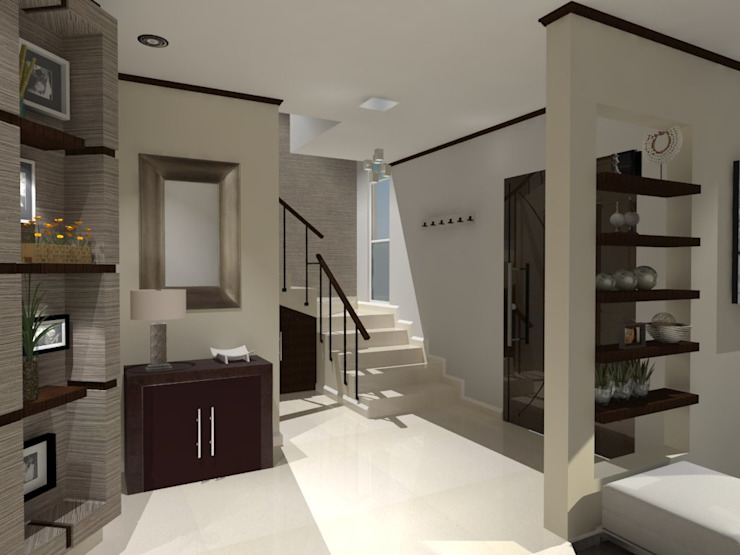 Pasillos y vestíbulos de estilo  por AurEa 34 -Arquitectura tu Espacio-, Moderno