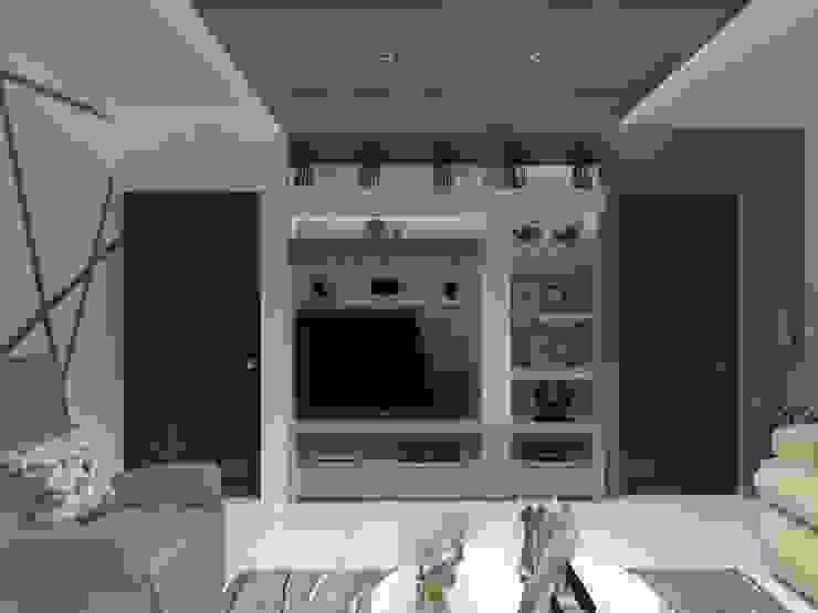 SALA MULTIMEDIA AurEa 34 -Arquitectura tu Espacio- Salas multimedia modernas Beige