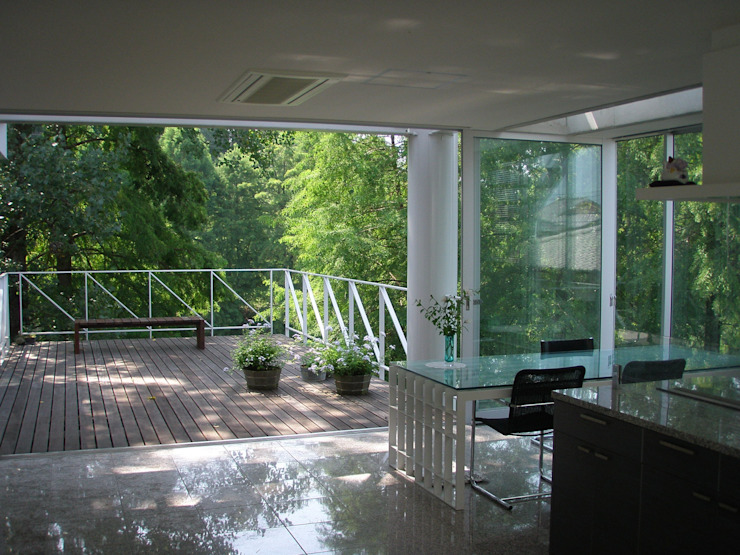 建築家の自邸 Architect's own house オリジナルデザインの ダイニング の 高原生樹建築設計事務所 オリジナル