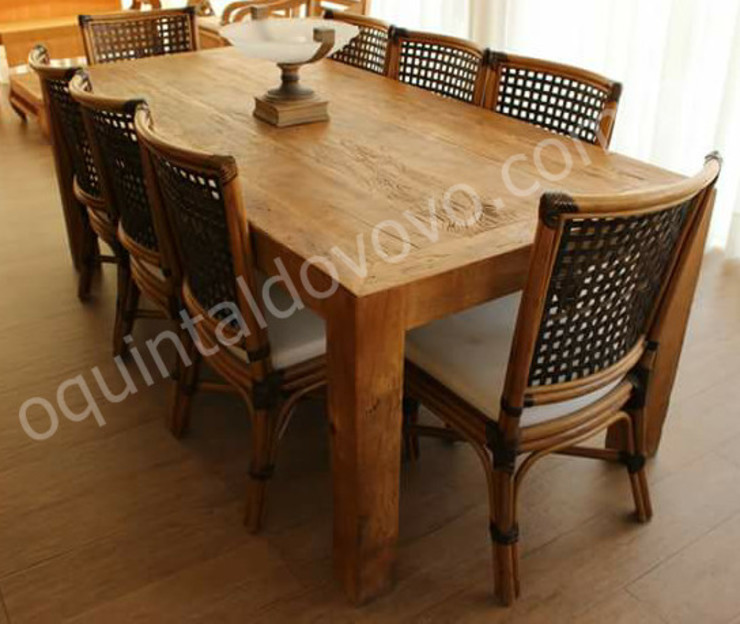 rustic  by O Quintal do Vovô, Rustic Solid Wood Multicolored