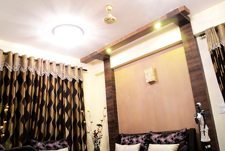 Arihant Ambience Apartment. Mediterranean style living room by Decor At Door Mediterranean